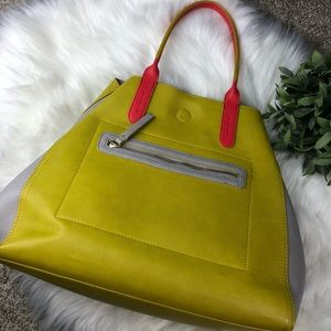 Neiman Marcus Vibrant Vegan Leather Large Tote